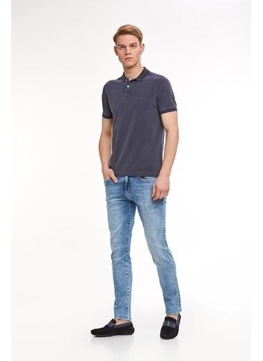 Hemington Vintage Görünümlü Polo Yaka T-Shirt Lacivert